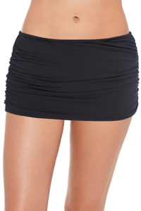 Magicsuit Black Shirred Swim Skirt