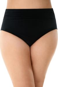Magicsuit Black Plus Size Jersey Shirred Tankini Bottom