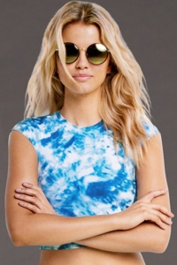 Seafolly Caribbean Ink Active Crop Top