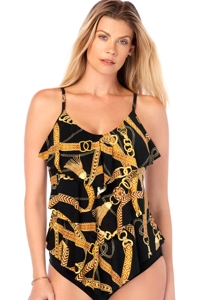 Magicsuit Jet Setter Rita Triple Tiered Tankini Top
