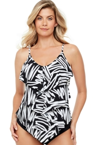 Magicsuit Sketchy Rita Triple Tiered Tankini Top