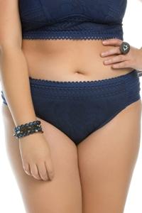Becca ETC by Rebecca Virtue Plus Size Side Shirred Hipster Bikini Bottom