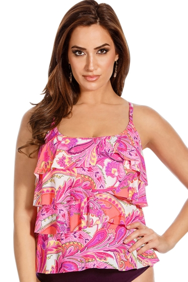 Miraclesuit Persian Garden Tiering Up Tankini Top