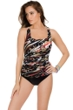 Miraclesuit Tigrillo Debbie Square Neck One Piece Swimsuit