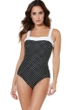 Miraclesuit Spot On Square Neck One Piece Swimsuit