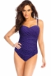 Miraclesuit Eggplant Pin Dot Avery One Piece Swimsuit