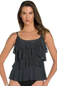Miraclesuit Pin Point Tiering Up Tankini Top
