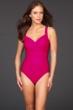 Miraclesuit Berry Red Sanibel Underwire Surplice One Piece Swimsuit