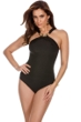 Miraclesuit Black Bijoux High Neck One Piece Swimsuit