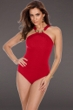 Miraclesuit Red Bijoux High Neck One Piece Swimsuit