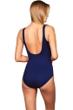 Miraclesuit Navy Oceanus Surplice One Piece Swimsuit