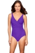 Miraclesuit Solid Violet Oceanus Suplice One Piece Swimsuit