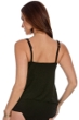 Miraclesuit Solid Black Gold Rush Luxe Underwire Tankini Top