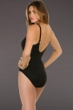 Miraclesuit Solid Black Net Work DD-Cup Underwire Madero One Piece Swimsuit