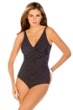 Miraclesuit Pin Point DD-Cup Oceanus Underwire Surplice One Piece Swimsuit