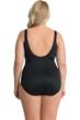 Miraclesuit Plus Size Solid Black Escape Underwire One Piece Swimsuit