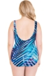 Miraclesuit Plus Size Palm Reader Oceanus Surplice One Piece Swimsuit