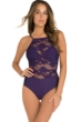 Amoressa by Miraclesuit Tres Riche Cristobel Lace High Neck One Piece Swimsuit