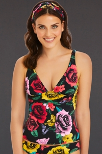Vera Bradley Yes Way Rose Emily Tankini Top