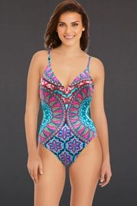 Vera Bradley Lake I Care Zoe Low Scoop Back One Piece Swimsuit