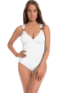 Amoressa by Miraclesuit You Only Live Twice Horizon Strappy Back One Piece Swimsuit