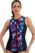 Miraclesuit Shimmer Bay Active Sleeveless Full Zip Rash Guard