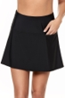 Miraclesuit Black Fit and Flair Swim Skirt