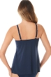 Miraclesuit Midnight Blue Rock Solid Marina Underwire Tankini Top