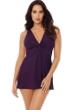 Miraclesuit Sangria Purple Must Have Marais Knot Front Swimdress