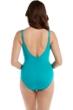 Miraclesuit Amalfi Green Sanibel Surplice Underwire One Piece Swimsuit