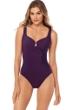 Miraclesuit Sangria Purple Must Have Escape Underwire One Piece Swimsuit
