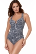 Miraclesuit Lush Lanai Midnight Escape Underwire One Piece Swimsuit