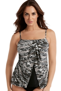 Miraclesuit Feline Fixation Jubilee Fly Away Tankini Top