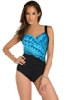 Miraclesuit Cabana Chic Sanibel Surplice Underwire One Piece Swimsuit