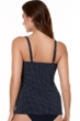 Miraclesuit Midnight Blue Pin Point Love Knot Underwire Tankini Top