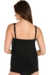 Miraclesuit Illusionist Black DD-Cup Mirage Mesh Inset Underwire Tankini Top