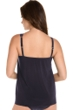 Miraclesuit Illusionist Midnight Blue DD-Cup Mirage Mesh Inset Underwire Tankini Top