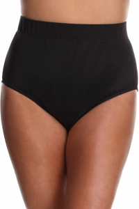 Miraclesuit Black Plus Size Classic Brief Tankini Bottom