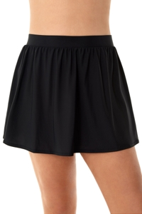 Miraclesuit Black Plus Size Swim Skirt