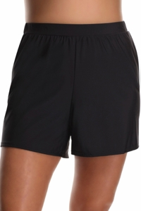 Miraclesuit Black Plus Size Loose Swim Shorts