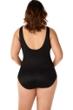 Miraclesuit Illusionist Black Plus Size Palma One Piece Swimsuit