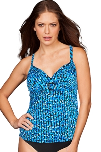 Trimshaper by Magicsuit Opti Dot Cara Tankini Top