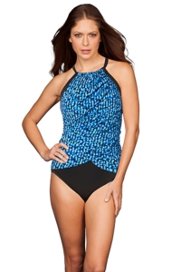 Trimshaper by Magicsuit Opti Dot Lexie High Neck One Piece Swimsuit