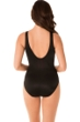 Miraclesuit Rock Solid Black Keyhole Arden One Piece Swimsuit