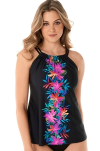 Miraclesuit Genesis Shoreline High Neck Underwire Tankini Top