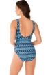Miraclesuit Mosaica Criss Cross Escape Underwire One Piece Swimsuit