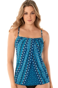 Miraclesuit Mosaica Jubilee Fly Away Tankini Top