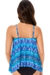 Miraclesuit Blue Curacao DD-Cup Peephole Underwire Tankini Top