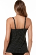 Miraclesuit Black and White Pin Point DD-Cup Love Knot Underwire Tankini Top