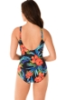 Miraclesuit Samoan Sunset Oceanus Surplice One Piece Swimsuit